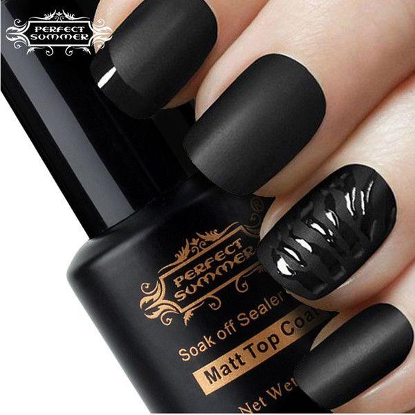 Matt Top Coat Nail Art UV Gel Polish ❤ liked on Polyvore featuring beauty products, nail care, nail polish, nails, makeup, beauty, unhas, gel nail color, gel nail care and art nail polish