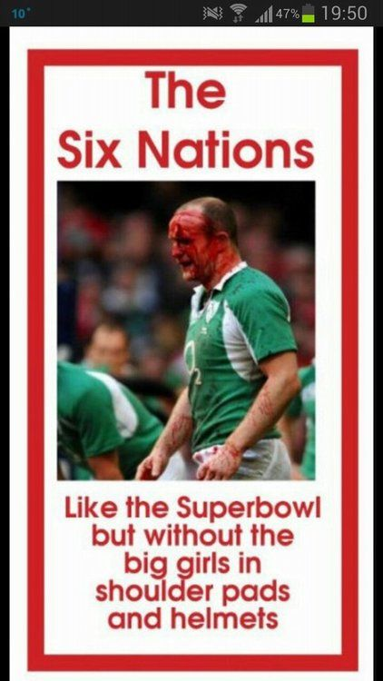 Six Nations  come on the Men in Green