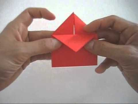 how to make origami heart with a4 paper