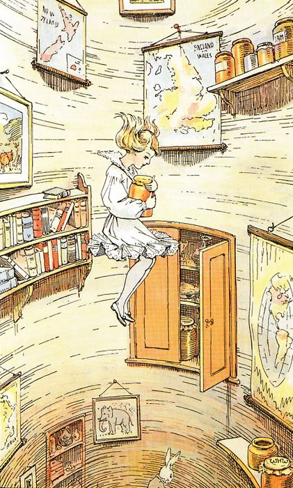 "Alice's Wonderland Ch. 1 Down The Rabbit Hole  Serafini Amelia  Alice ""Falling"""