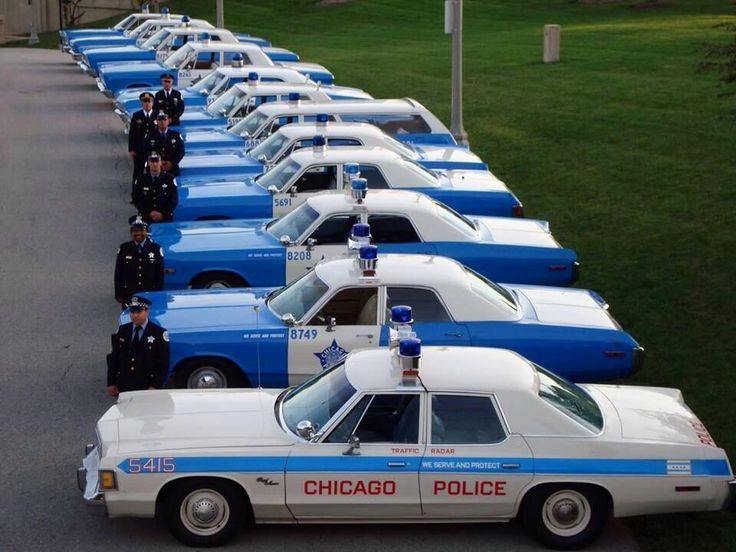 Restored Chicago PD cars from the early '60s through mid '70s