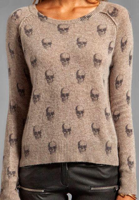 Skull Printed Woolen Sweater