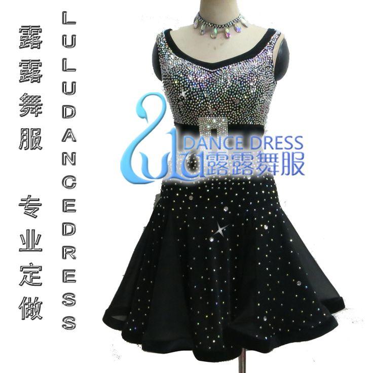 Танго сальса самба танец платье, Lulu-2010 латинский танец Lulu-2003