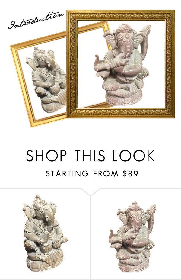 GANESHA STONE SCULPTURE by baydeals on Polyvore featuring God, sculpture, hindugod and stonestatue  http://stores.ebay.com/mogulgallery/STONE-SCULPTURES-/_i.html?_fsub=353416219&_sid=3781319&_trksid=p4634.c0.m322