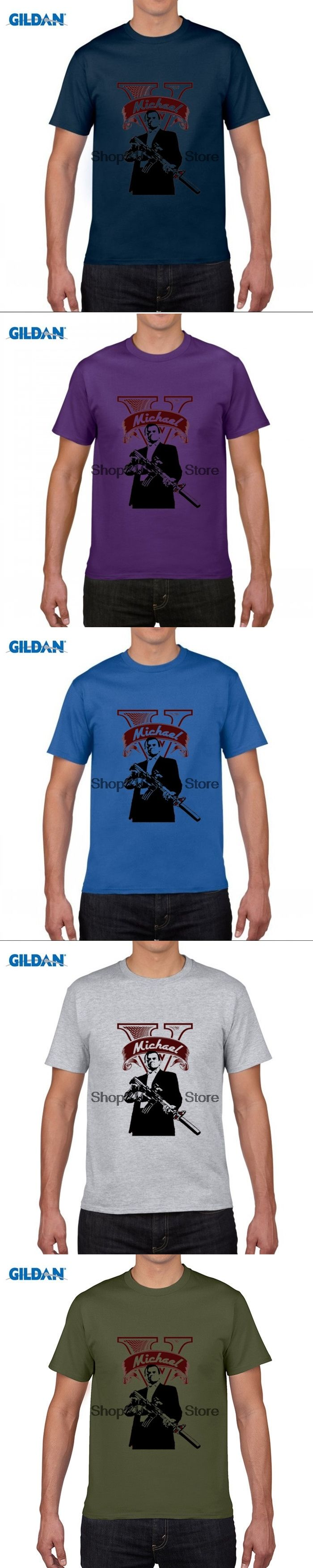 GILDAN Grand Theft Auto V Characters T Shirt Men  GTA 5 Render Franklin/Trevor Render/Micheal Printed T-Shirt