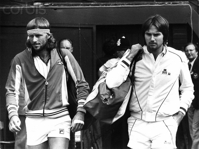 Bjorn Borg and Jimmy Connors
