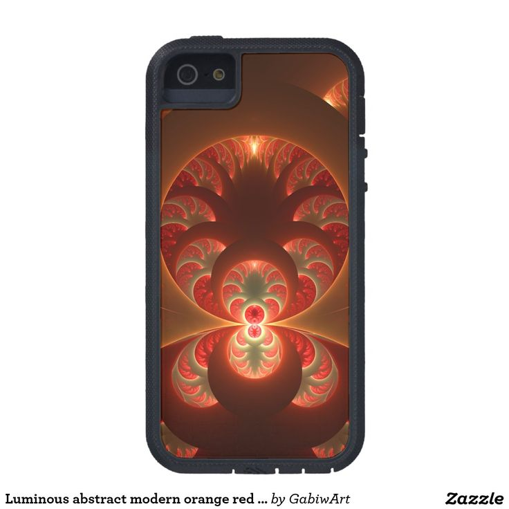Luminous abstract modern orange red Fractal Case For iPhone SE/5/5s