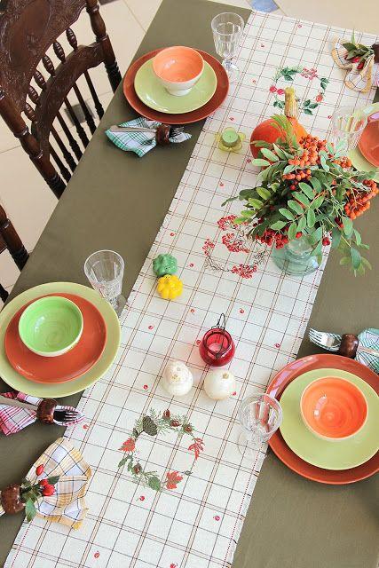 Осенняя дорожка для стола