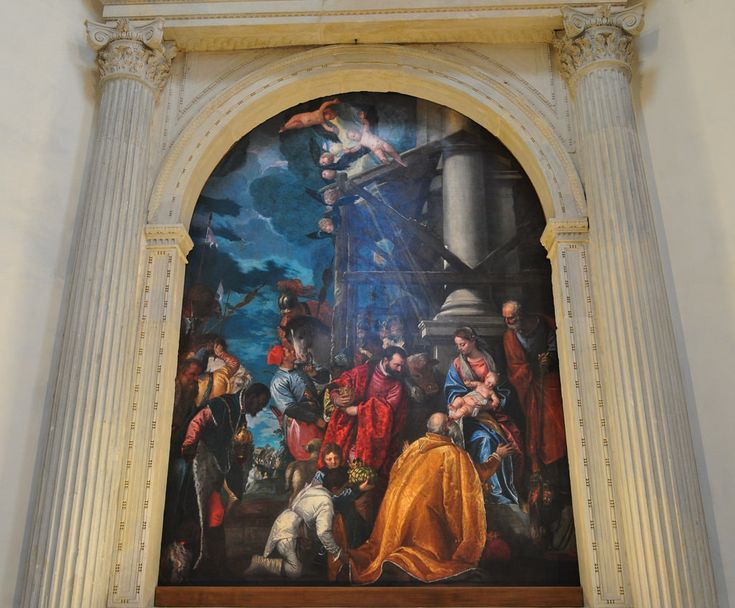 """""""Adoration des Mages"""", 1578, Véronese, chapelle de Saint Joseph, église Santa Corona (XIIIe), contrà Santa Corona, Vicence, province de Vicence, Vénétie, Italie.   par byb64"""