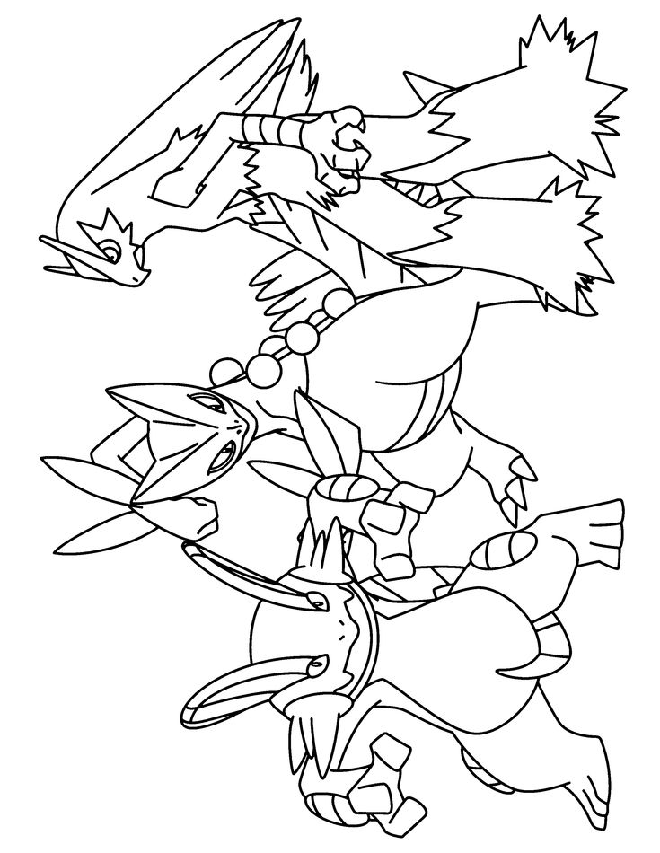 pokemon group coloring pages - photo#23
