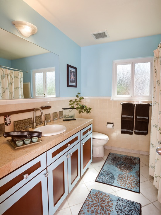 17 best images about blue brown beige bathroom designs on for Blue and brown bathroom designs