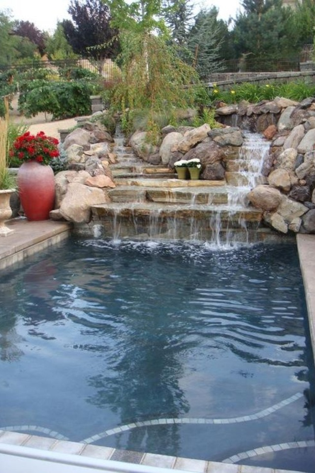 Waterfall For Swimming Pool Swimming Pools Pinterest