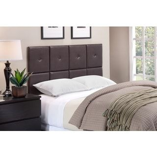Foremost Tessa Headboard Tiles With Tuft In Espresso PU