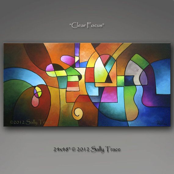 Large original abstract painting Commission, Geometric Painting, Urban Abstract Painting