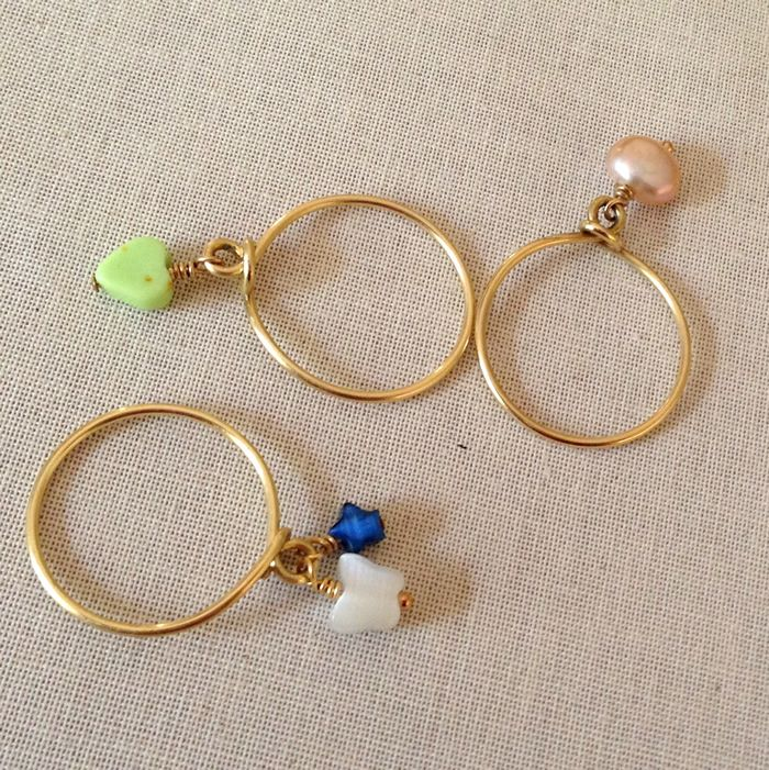 Wire Ring Beads: Make A Wire Wrap Stacking Ring With Bead Dangles