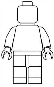 Color a Lego Man! Just print and let the kids decorate their dream lego man! #TheLegoMovie #Lego