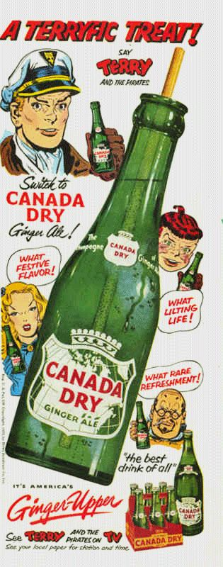 Canada Dry Sponsors Terry and The Pirates, circa 1952