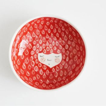 Marinski bowls with character red