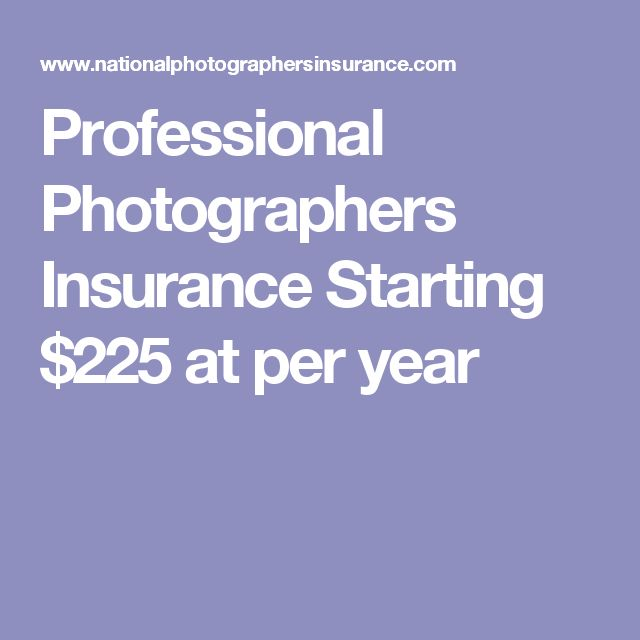 Professional Photographers Insurance Starting $225 at per year
