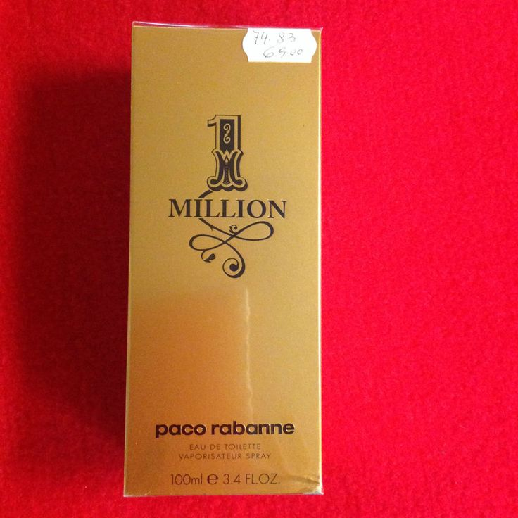 Profumo ONE MILLION by PacoRabanne,100ml,Eau De Toilette,Uomo,Spray Vaporisateur