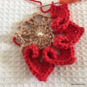 Flor coração passo a passo - croche.com (38)