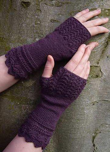 Ravelry: Belladonna Fingerless Gloves pattern by Sally Pointer/ Wicked Woollens