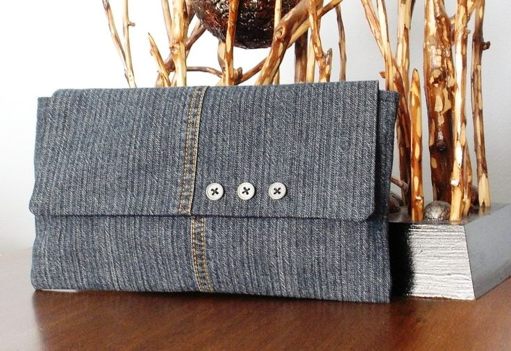 Blue Denim Clutch. $22,00, via Etsy.