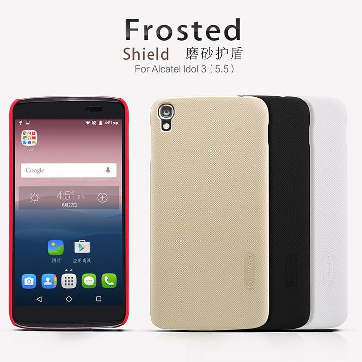 For Alcatel Idol 3 Case Nillkin Frosted Shield Hard Back Cover Case For Alcatel Idol 3 5.5 Inch Gift Screen Protector