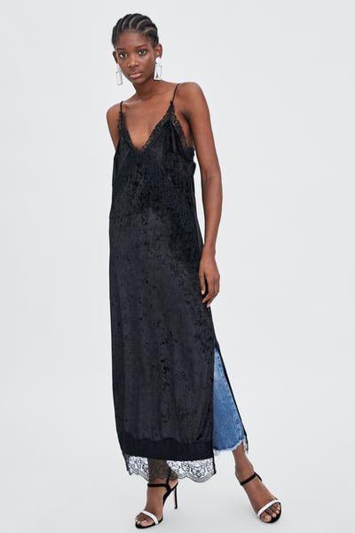 Image 8 of VELVET LINGERIE-STYLE DRESS from Zara  ec4202086
