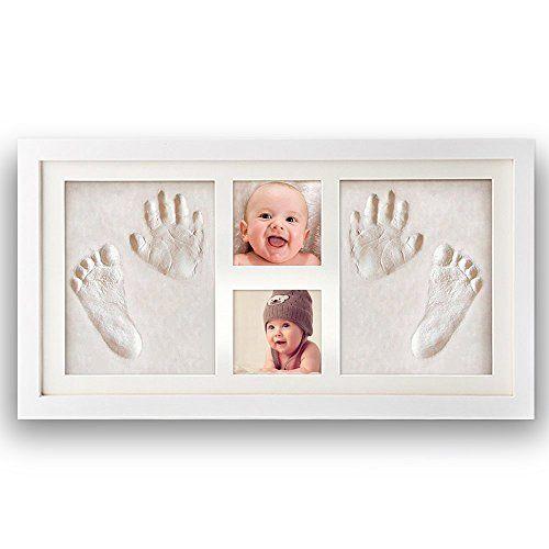 Pootack Cadre Empreinte Bébé Cadre de Photo pour Souvenir la Naissance de Bebe et Enregistrer les Empreintes du Pied et Main de Bébé – Blanc