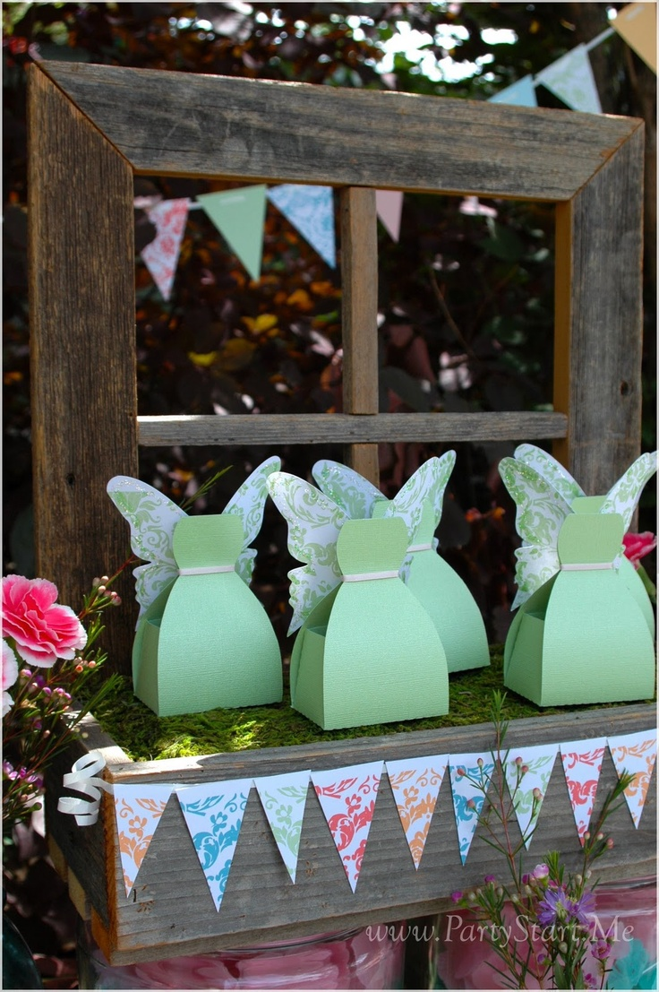Fairies Party Favors - Use the bride box and add wings. X