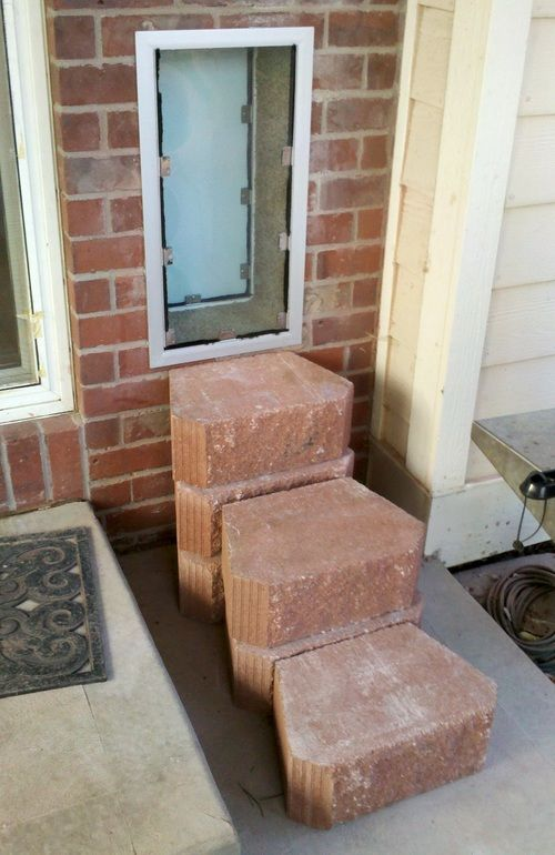 dog doors for the wall | Hale Pet Door Wall Dog Door Installed Thru Brick