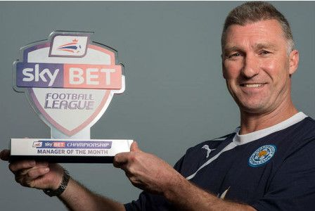 Main image for Leicester City boss Nigel Pearson  wins Sky Bet Championship manager of the month