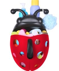 Boon Bug Pod allows you to scoop, drain and store bath toys. Makes bath time clean up easy.