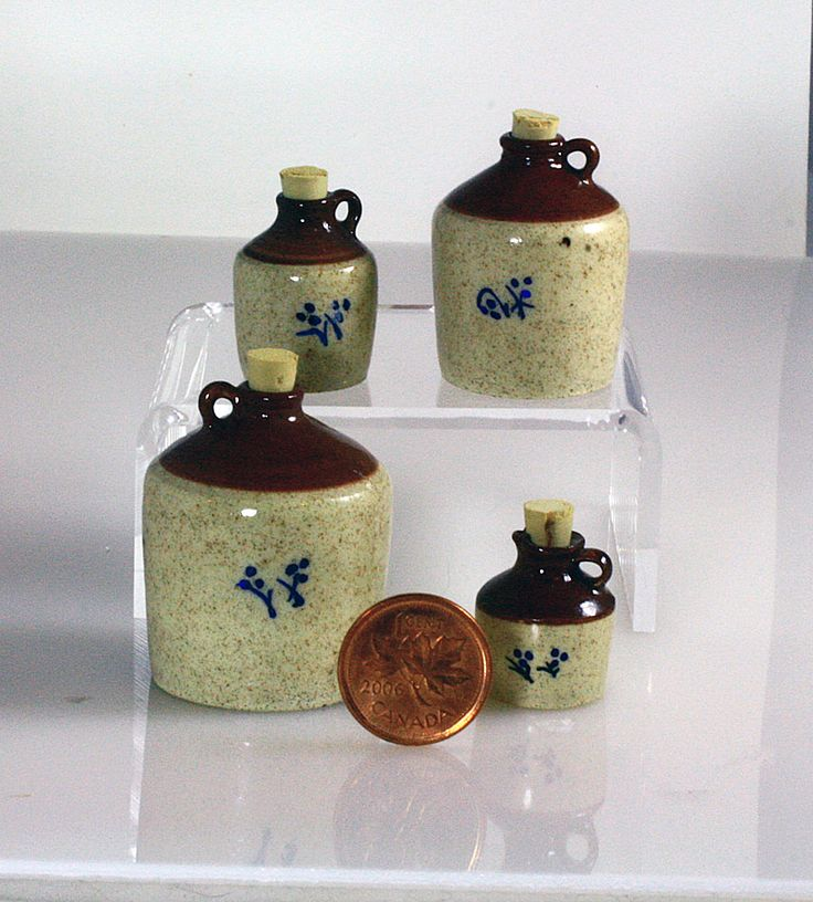 Handmade 1/12 scale stoneware jugs from Small Scale Showcase