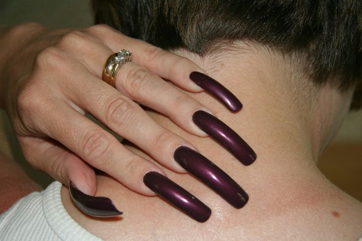 mature long nails rings