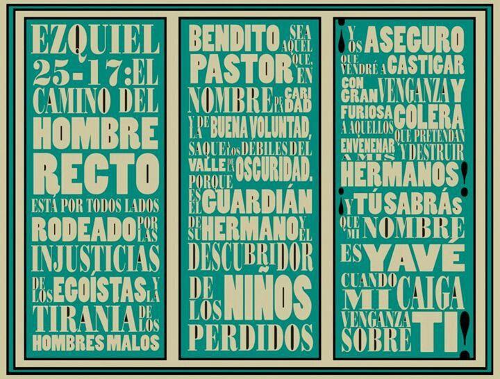 Ezequiel 25-17, pulp fiction. By Dr.Moreno