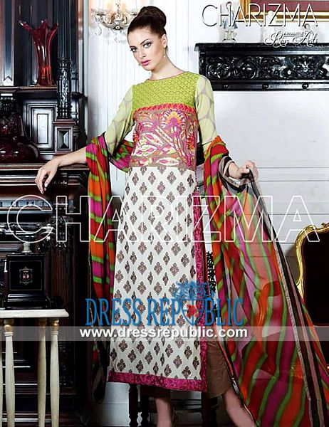 Charizma summer designer lawn suits pakistani vol riaz