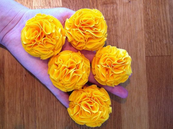 Sunshine Yellow Garden Pinks Brooch by TheGentleFlower on Etsy, $23.00