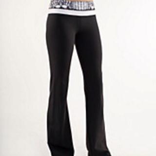 I love my yoga pants I think these are loulou lemon? :)