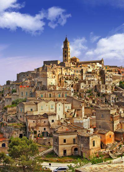 Matera, Basilicata, Italy. UNESCO World Heritage Site and European Capital of Culture for 2019.