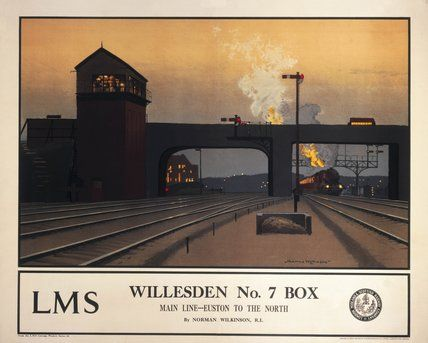 'Willesden no 7 box', LMS poster, 1923-1947.
