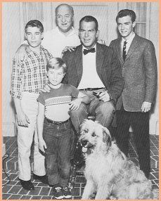 """Trained by animal trainer and breeder Frank Inn, Tramp went on and played the role of ''Tramp the dog'' the family dog on the television series, """"My Three Sons"""" (1960-1972), starring Fred MacMurray. His urn was placed in the casket of Frank Inn. Forest Lawn Memorial Park, LA."""