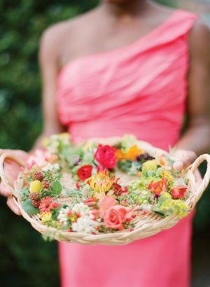 colorful boutonnieres | mixed
