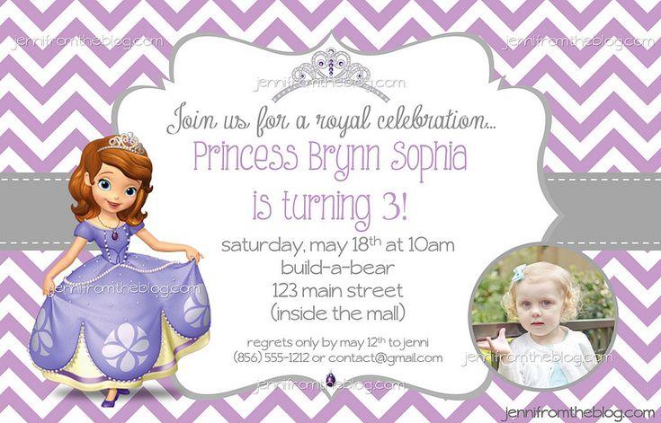Sophia the First Birthday Party Invite! jennifromtheblog.com