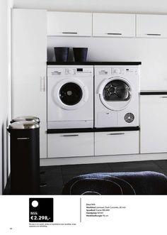 Lovely idea for laundry room. #Kvik