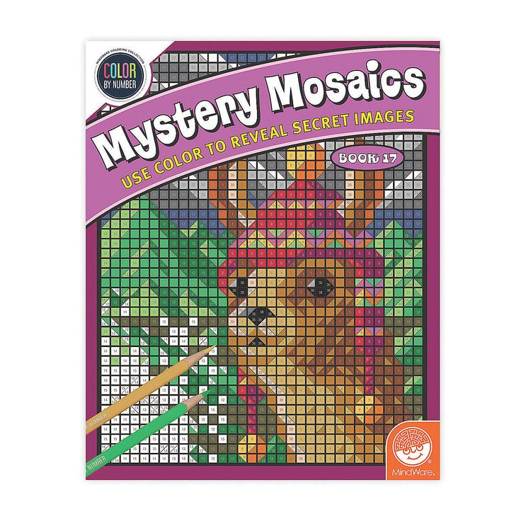Amazing designs are revealed on each Mystery Mosaic page