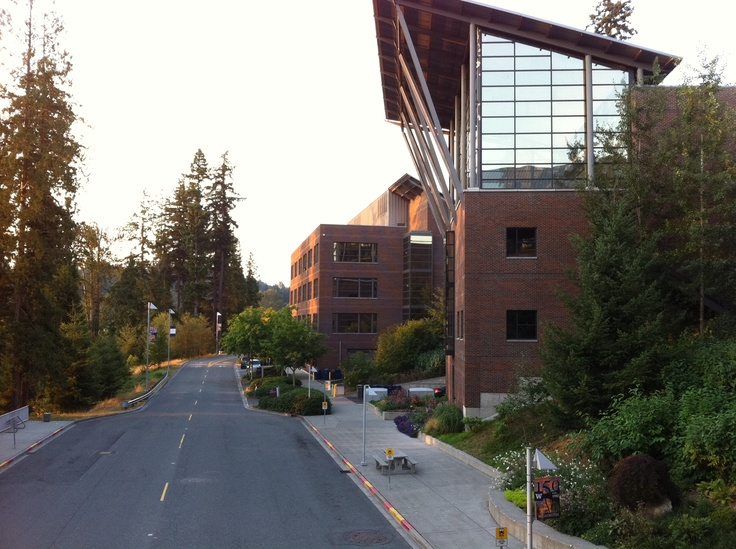 East side of the campus, looking toward the reading room.