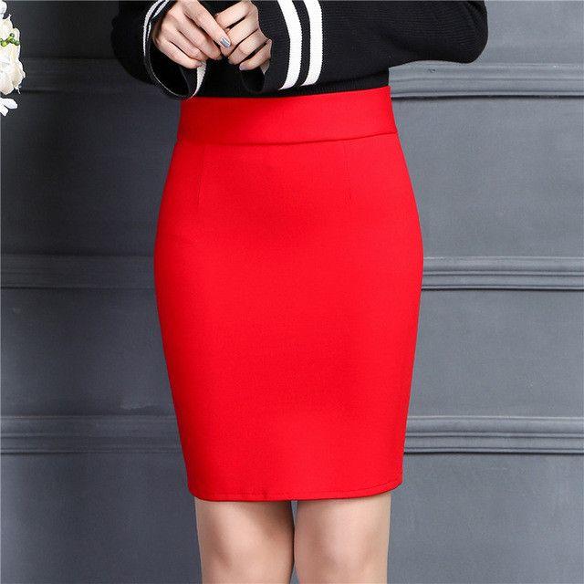 Elastic High Waist office Skirts