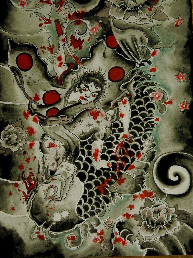 Japanese Koi Art Wallpaper Japanese Koi Art Wallpaper